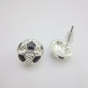 Jewelry - NWOT Small Onyx & Diamond Color Crystal Earrings